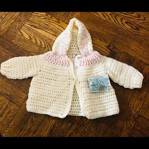 Delicious Hand made knit Hoodie sweater.